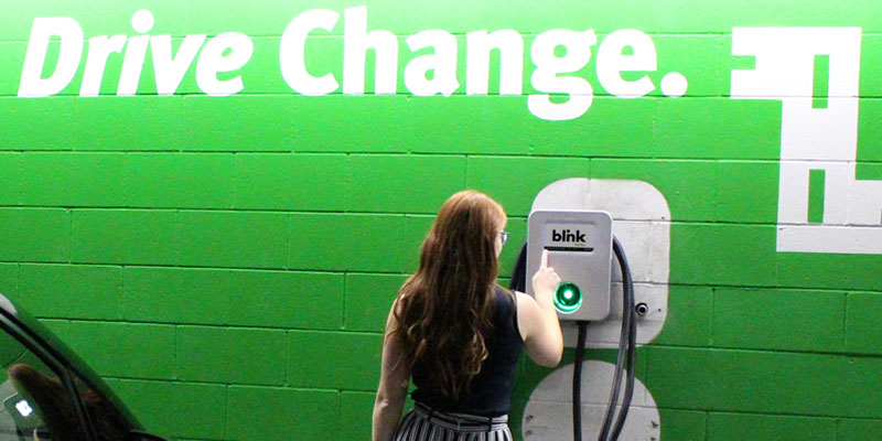 Blink Charging EV Charging Station at Commercial, Municipal, & Business Location