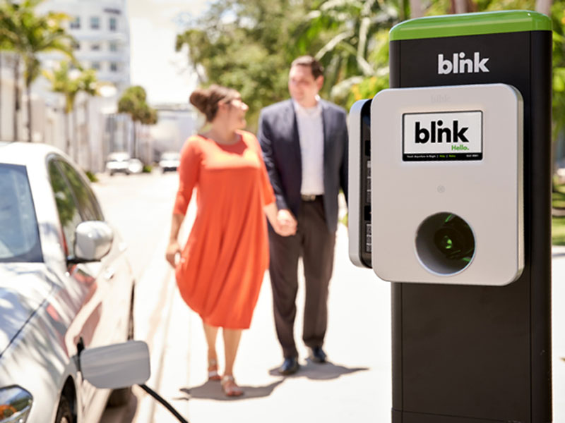 DC Fast EV Charging Stations - Blink Charging for Roadside Location and Businesses